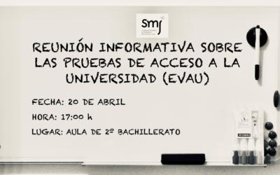 Convocatoria Reunión: Información EvAU