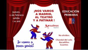 Excursión de los alumnos de primaria a Madrid