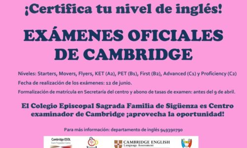 Exámenes oficiales de Cambridge 2021