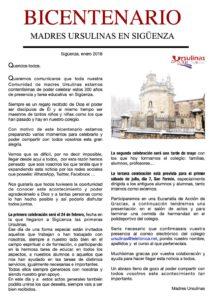 Bicentenario Madres Ursulinas en Sigüenza