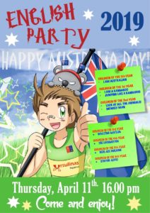 ¡Fiesta Australiana! English party 2019
