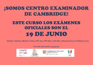 Cambio de fecha – Exámenes Cambridge 2021