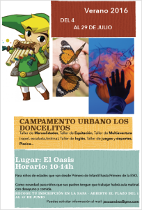 cartel campamento urbano los doncelitos 2016 safa sigüenza