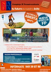 Nueva Oferta FP: Grado Medio en Conducción de Actividades Físico-Deportivas en el Medio Natural (TECO)