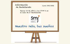 Convocatoria Reunión: Información Bachillerato Curso 2021-22